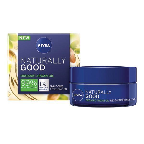 Nivea Naturally Good Възстановяващ нощен крем за лице за всеки тип кожа x50 мл