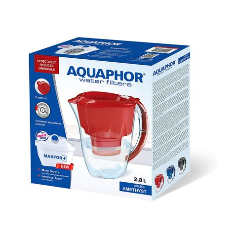 Аквафор Аметист Maxfor+ Филтрираща кана за вода, цвят Вишна х2,8 литра