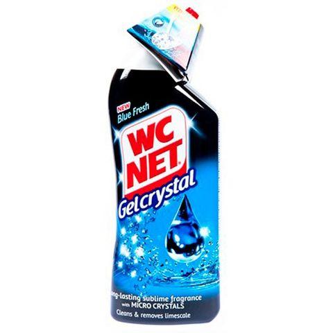 WC Net Crystal Течен почистващ гел за тоалетна Blue Fresh х750 мл