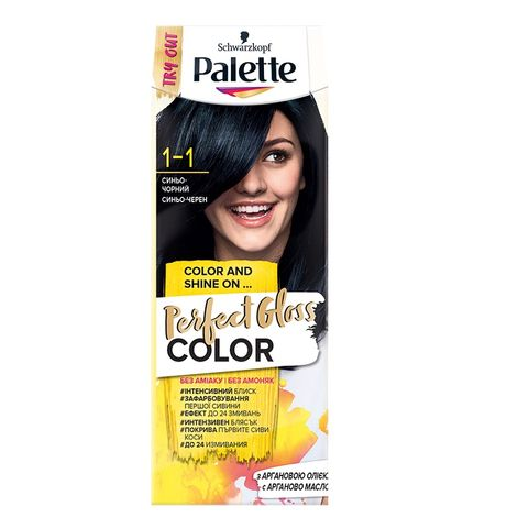 Palette Perfect Gloss Color Крем боя за коса без амоняк x70 мл, 1-1 Синьо-черен