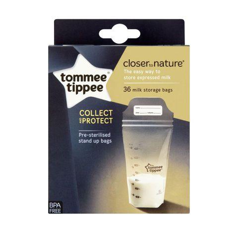 Tommee Tippee Close To Nature Торбички за съхранение на кърма x36 броя