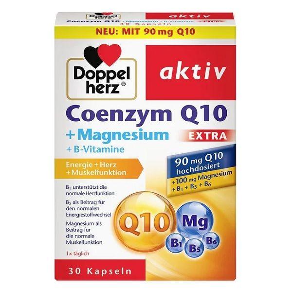 Допелхерц Aктив Коензим Q10 + Магнезий Екстра х30 капсули