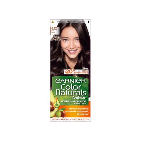 Garnier Color Naturals Трайна боя за коса, цвят 4.12