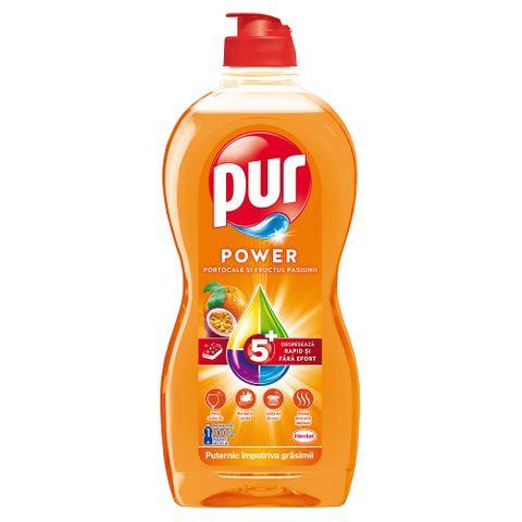 Pur Power Gel Препарат за миене на съдове с портолал и маракуя x450 мл