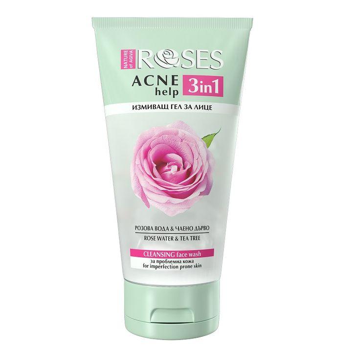 Nature of Agiva Roses Acnehelp 3in1 Измиващ гел за проблемна кожа x150 мл