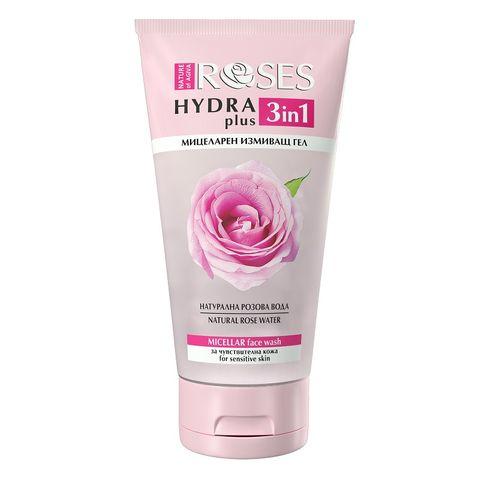 Nature of Agiva Roses Hydra Plus 3in1 Мицеларен измиващ гел за чувствителна кожа x150 мл