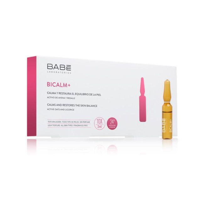 Babe Bicalm + Ампули за лице за успокояване и възстановяване на кожата 10 х2 мл