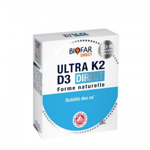 Biofar Direct K2 и D3 за сила на костите и зъбите х14 сашета