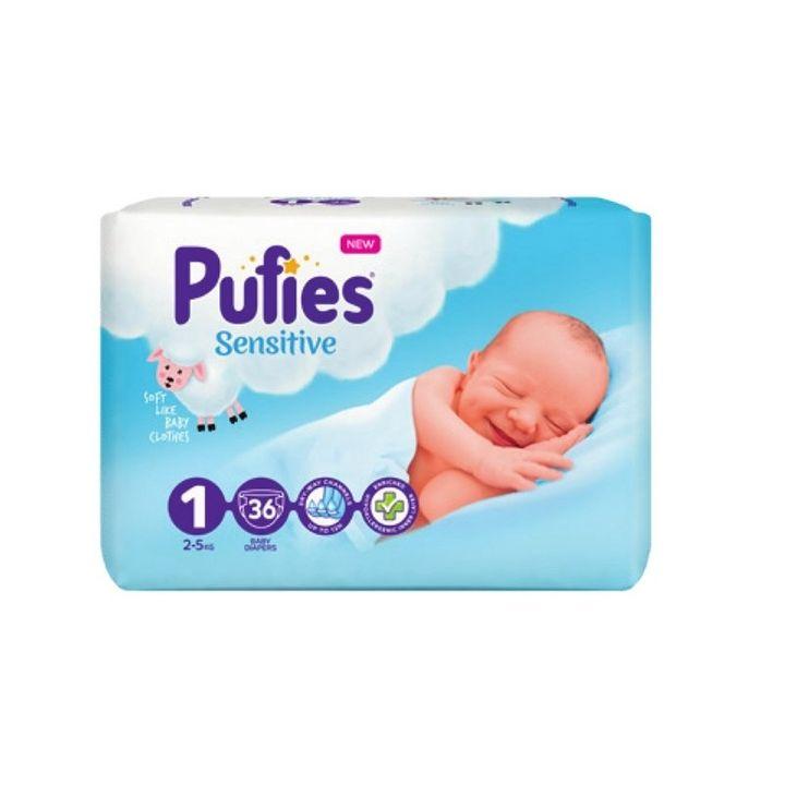 Pufies Sensitive 1 Newborn Пелени за бебета с тегло от  2-5 кг x36 броя