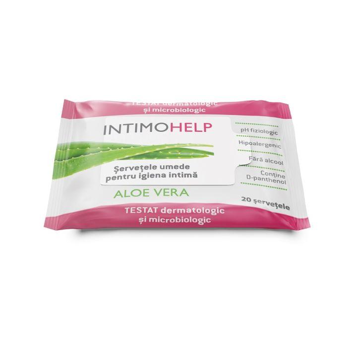 Intimo Help Aloe Vera Хипоалергични мокри кърпи за интимна хигиена х20 броя Naturprodukt