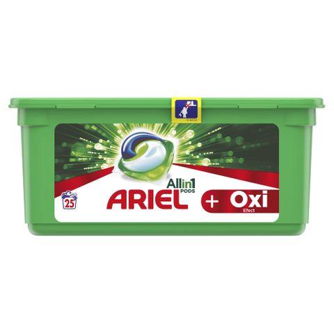 Ariel All in1 Pods Oxi Effect Гел капсули за пране 25 броя х28 грама