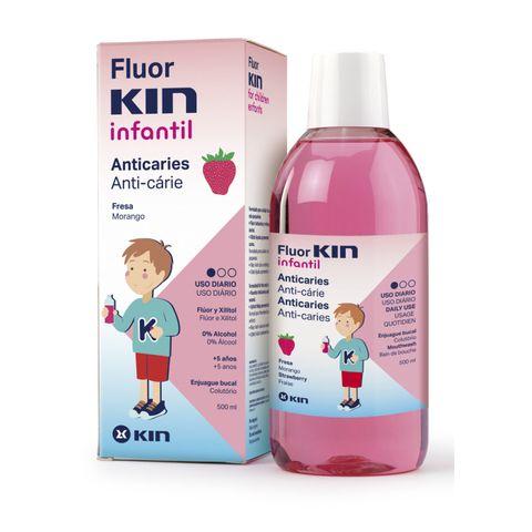 Kin Fluorkin Infantil Вода за уста с вкус на ягода за деца над 5 години x500 мл