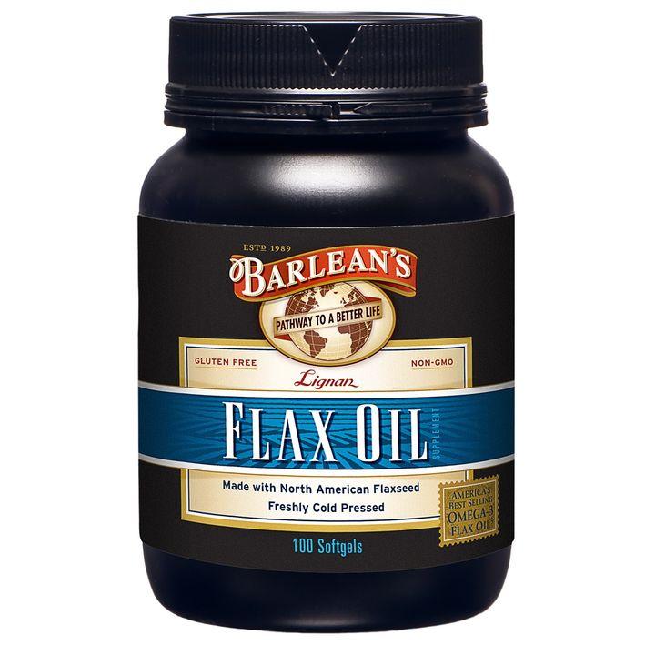 Barlean's Масло от семена на лен с лигнани х 100 капсули