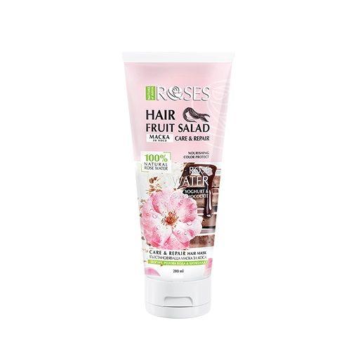 Nature of Agiva Fruit Salad Възстановяваща маска за коса с йогурт, тъмен шоколад и розова вода x200 мл