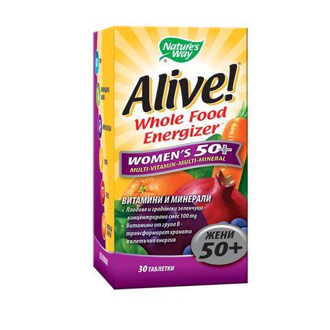 Alive Мултивитамини за жени 50+ x30 таблетки Nature's Way