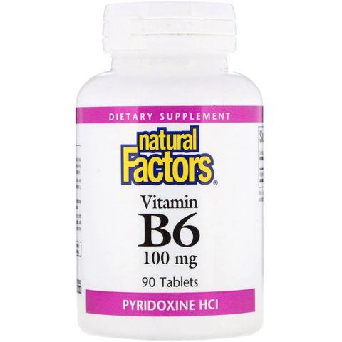 Natural Factors Витамин B6 100мг х90 таблетки