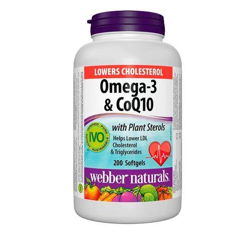 Lower Cholesterol Омега-3, фитостероли и коензим Q10 х200 софтгел капсули
