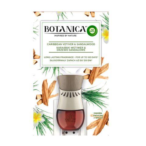 Air Wick Botanica Eлектически ароматизатор Карибски ветивер и сандалово дърво x19 мл