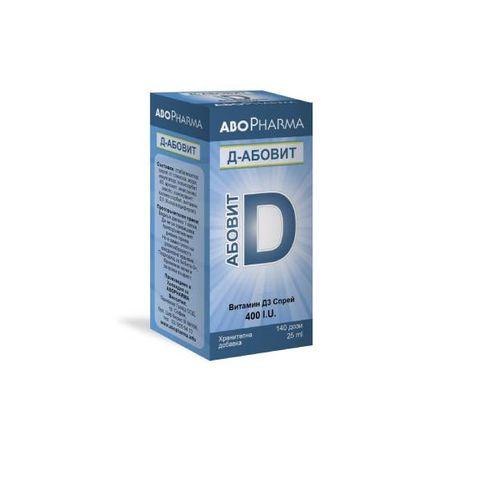 Д-Абовит Витамин Д 400IU спрей х25 мл Abopharma