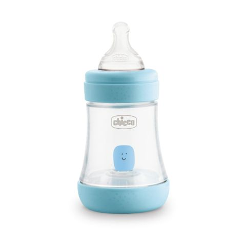 Chicco Perfect 5 Шише за хранене със силиконов биберон за деца над 0 месеца x150 мл