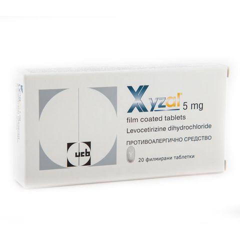 Ксизал при алергии 5 мг х20 таблетки