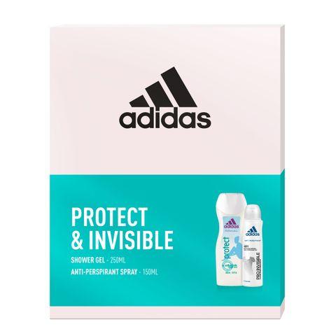 Adidas Protect & Invisible Промо комплект за жени Душ гел и Део спрей