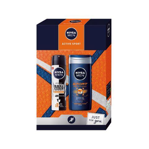 Nivea Men Промо комплект Active Sport Спрей дезодорант и Душ гел
