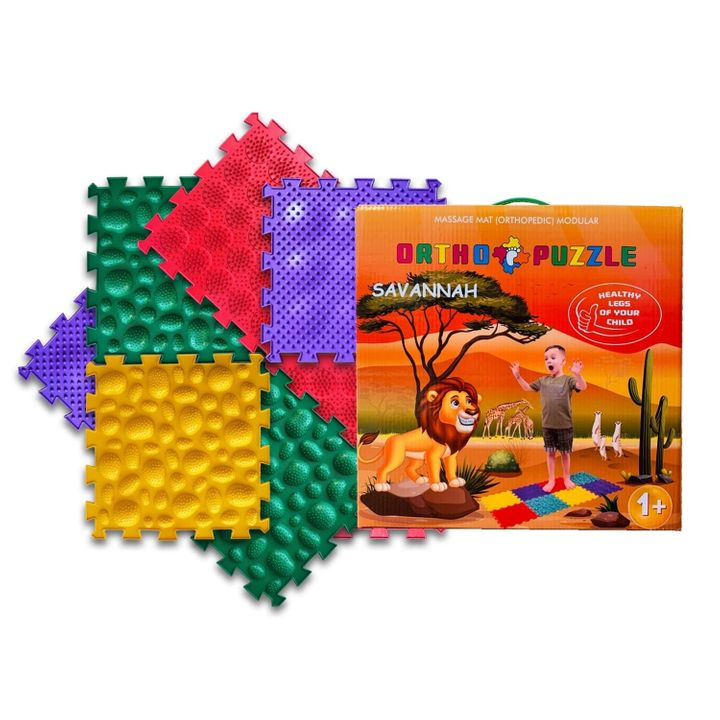 Ortho Puzzle Микс Савана Ортопедични килими за деца над 1 година