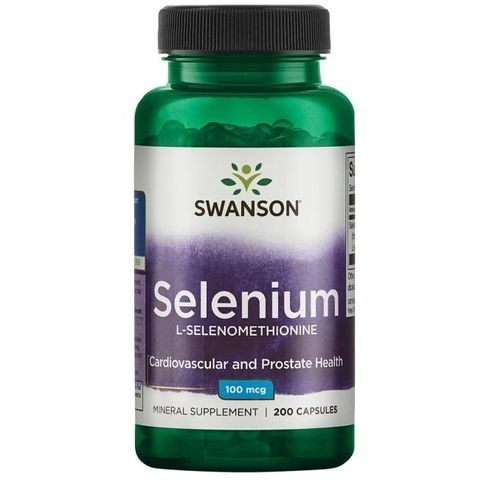 Swanson Селен Л-селенометионин 100 мкг х200 капсули
