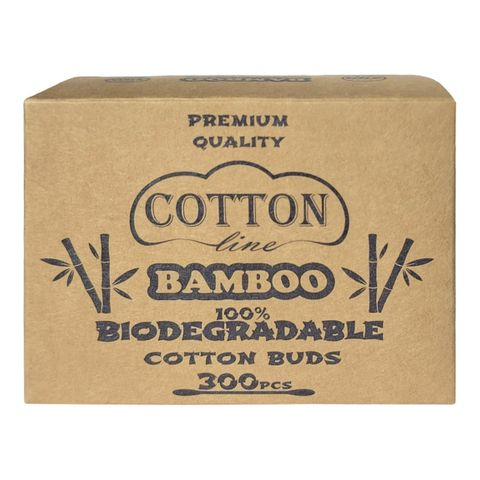 Cotton Line Bamboo Биоразградими клечки за уши x300 броя