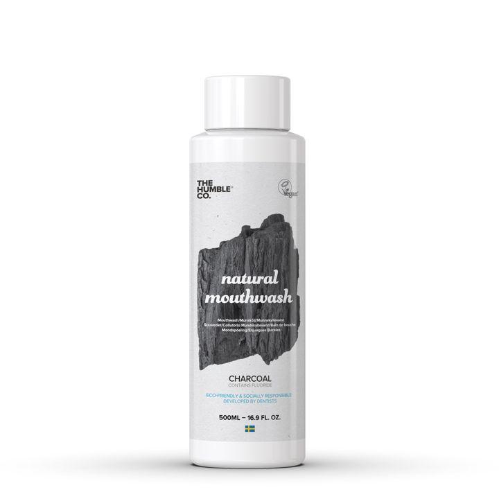 Humble Charcoal Натурална вода за уста х500 мл