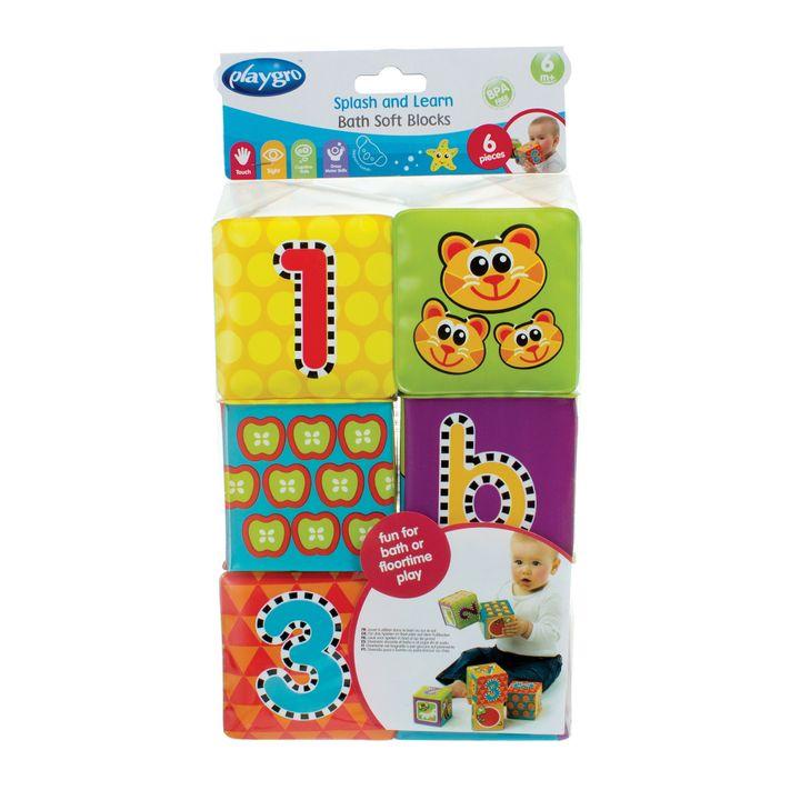 Playgro Меки кубчета за баня x6 броя за деца над 6 месеца