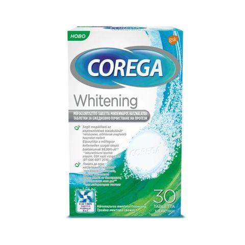Corega Whitening Таблетки за ежедневно почистване на протези x30 броя