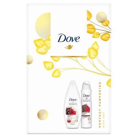 Dove Промо комплект Cacao & Hibiscus Подхранващ душ гел за тяло и дезодорант против изпотяване