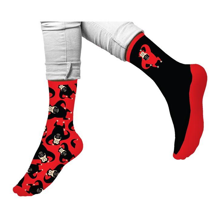 Agiva Happy Foottopia Чорапи от органичен пениран памук  Маймуна, размер 39-42