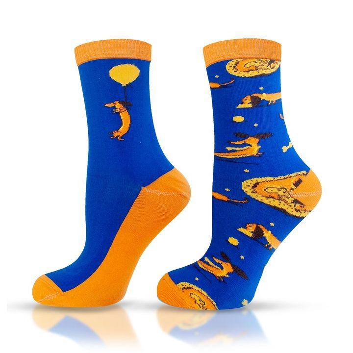 Agiva Happy Foottopia Чорапи от органичен пениран памук Куче, размер 35-38
