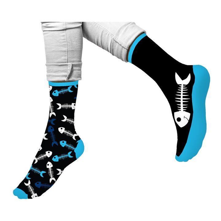 Agiva Happy Foottopia Чорапи от органичен пениран памук Риба, размер 43-46