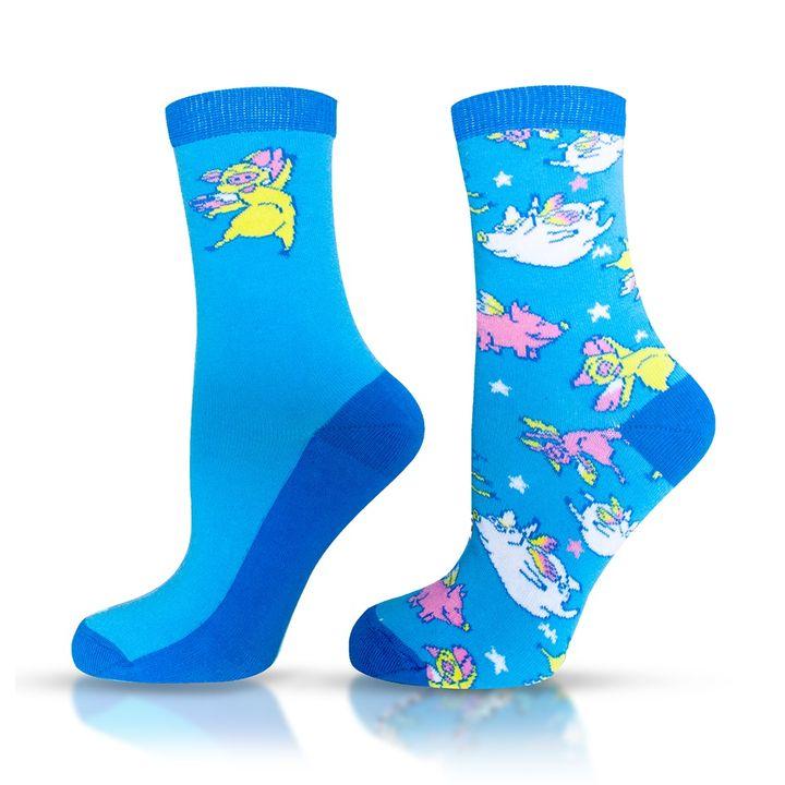 Agiva Happy Foottopia Чорапи от органичен пениран памук Прасе, размер 39-42