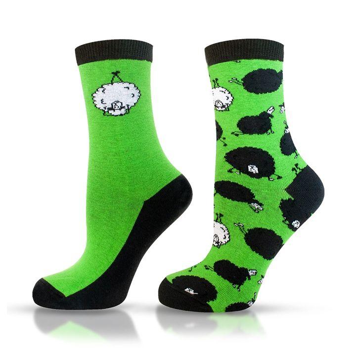 Agiva Happy Foottopia Чорапи от органичен пениран памук Овца, размер 35-38