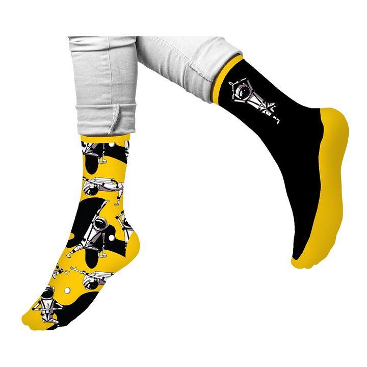 Agiva Happy Foottopia Чорапи от органичен пениран памук Космос, размер 39-42