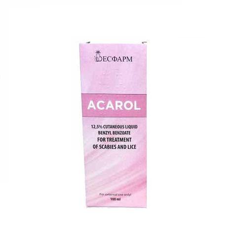 Акарол 12.5 % Течност за кожа против краста и въшки х100 мл Весфарм