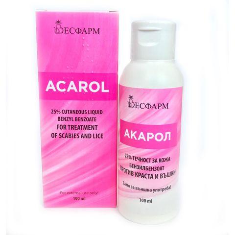 Акарол 25% Течност за кожа против краста и въшки х100 мл Весфарм