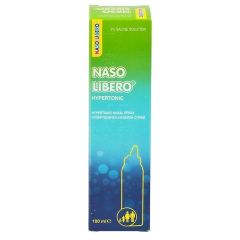Naso Libero Hypertonic Спрей за нос 2% NaCl х100 мл