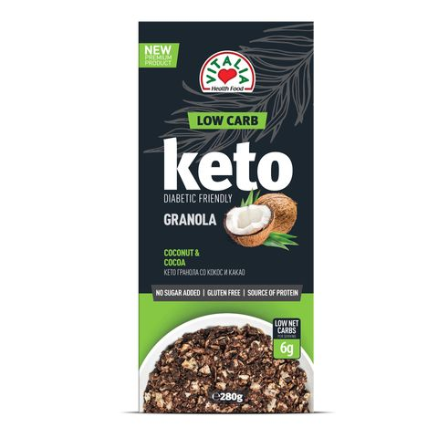 Vitalia Кето гранола с какао и кокос х280 грама
