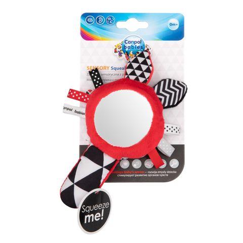 Canpol babies Мека играчка със свирка и огледало за деца над 0 месеца - 68/080