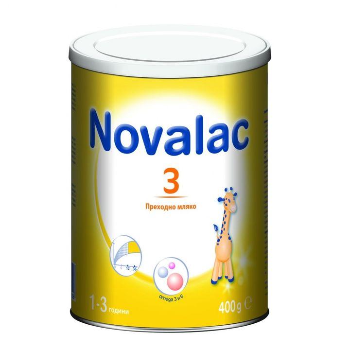 Novalac 3 Преходно мляко за малки деца от 1 до 3 години x400 грама