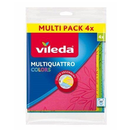 Vileda Multiquatro Colors Универсални кърпи за почистване x4 броя