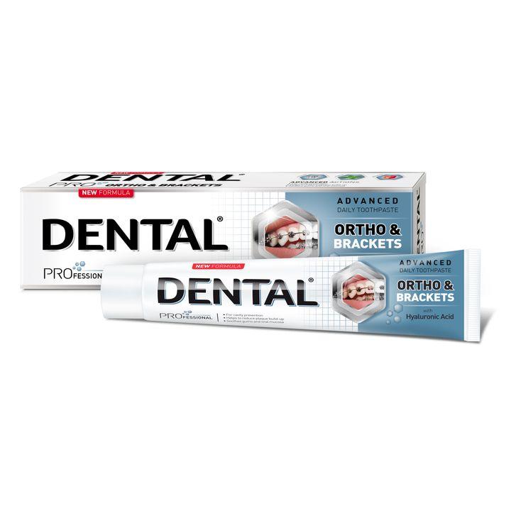 Dental Pro Ortho & Brackets Паста за зъби за деца и възрастни подложени на ортодонтско лечение x75 мл
