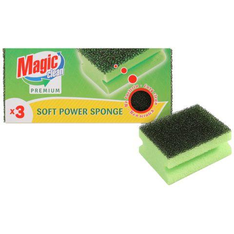 Magic Clean Premium Домакинска гъба с канал x3 броя