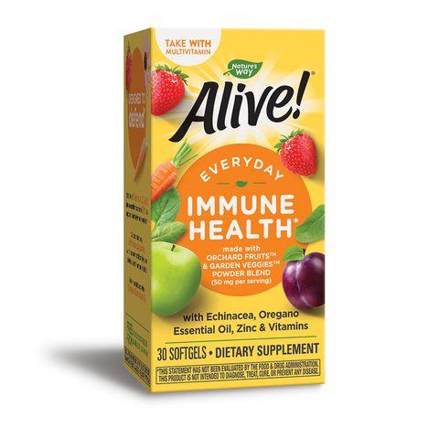 Alive Immune Health Витамини, цинк и екстракти от ехинацея и риган x30 софтгел капсули Nature's Way
